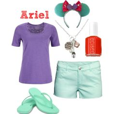Ariel disneybound | casual and comfortable for summer in the parks