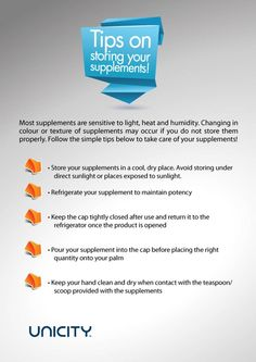 Tips on storing your supplements the correct way