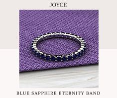 Sapphire Eternity Band, Eternity Bands, Jewelry Trends, Blue Sapphire, Wedding Bands, Gemstone Rings, White Gold, Gemstones, Diamonds