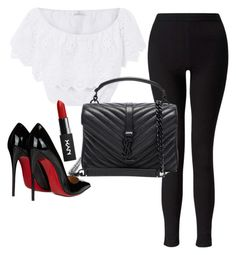 """""""Untitled #132"""" by hillzbabez on Polyvore featuring Miguelina, Miss Selfridge, Yves Saint Laurent and Christian Louboutin"""