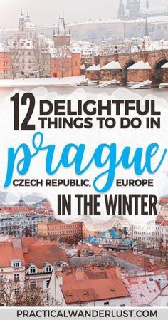 Prague in the winter is a romantic, snowy Christmas fairytale. Plus, the Christmas Markets stay open after New Years! You'll definitely want to Czech out (EYYYY) all of these delightful things to do in Prague in December and January.  Prague Travel | Winter Travel in Europe | Europe Travel | Romantic Travel | Budget Friendly Travel | Winter Travel Destinations | Christmas Markets | Christmas Travel Destinations #EuropeTravel #Prague #WinterTravel