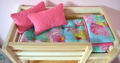 How to make a mattress & bedding to go with the doll beds.