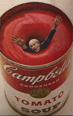 "Andy Warhol, ""Esquire"" magazine, 1969. This was done way before Photoshop so this is pretty amazing!"