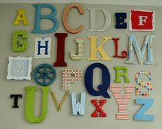 Alphabet Letters Design, Pictures, Remodel, Decor and Ideas - page 4