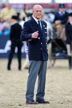 Prince Philip, Duke of Edinburgh attends the Driving for the Disabled event during the Royal Windsor Horse Show at Home Park on May 15, 2014 in Windsor, England.