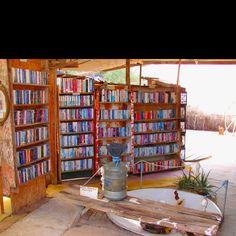 Slab City's Lizard Tree Library...