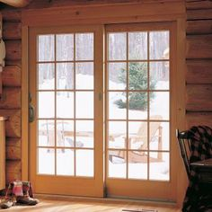 Gentil Andersen 71 In. X 80 In. 400 Series Frenchwood White Right Hand Sliding  Patio Door, Maple Interior, Low E SmartSun Glass