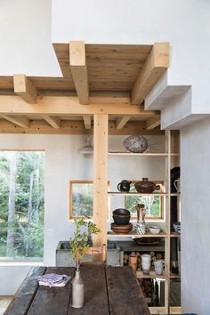 Kitchen Interior Design Remodeling wabi-sabi home of designer Julie O'Rourke of Rudy Jude. / sfgirlbybay - this is the very wabi-sabi home of designer Julie O'Rourke of Rudy Jude -- a kidswear brand out of Maine, and her architect partner Anthony Esteves.