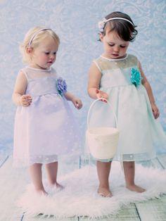 Cute Organza Polka-dot Flower Girl Dress