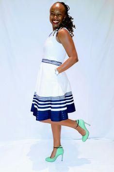 Latest xhosa clothing For Women's 2019 - xhosa Fashion African Fashion Skirts, South African Fashion, African Fashion Designers, African Bridal Dress, African Print Dresses, Diy Fashion, Fashion Styles, Womens Fashion, Style Fashion