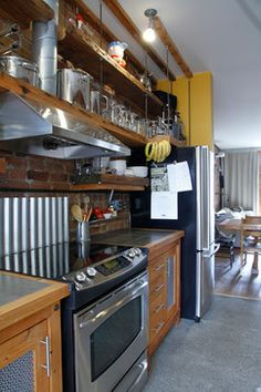 Dominique & Anne-Marie - eclectic - kitchen - montreal - Esther Hershcovich