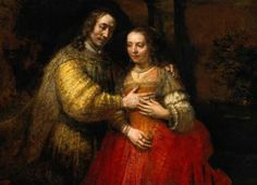 Isaac and Rebecca ~ Rembrandt can Rijn c. 1665