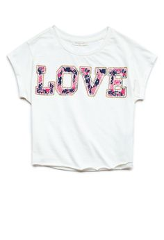 Floral Love Tee (Kids) | FOREVER21 #F21Girls #Juniors #GraphicTee