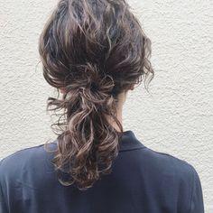 Medium Long Hair, Medium Hair Styles, Curly Hair Styles, Permed Hairstyles, Cute Hairstyles, Wavy Hair Perm, Waves Curls, Hair Arrange, Hair Images