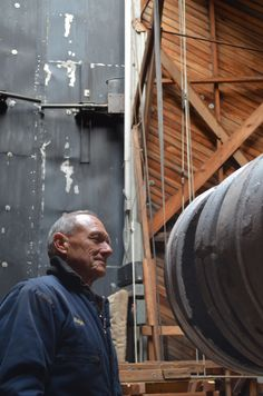 January 28, 2014 - Ralph Nye prepares to remove the next counterweight off the Clark Telescope.