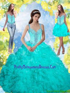 848d6bb0c9b Fashionable 2015 Beading and Ruffles Quinceanera Dresses in Aqua Blue Sweet  16 Dresses