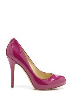 Pinkish Classic pump; Rounded toe; Logo hardware accent at ankle; Partially-wrapped stiletto heel PumpWomen #Shoes