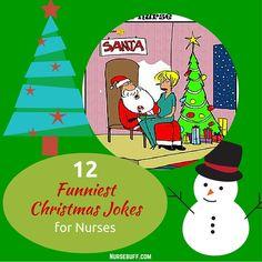 12 Funniest Christmas Jokes for Nurses #Nursebuff #Nurse #Christmas #Jokes