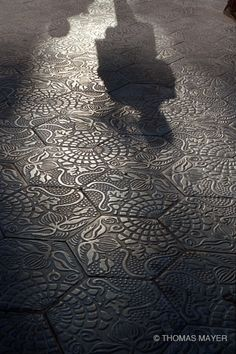 Photographed by Thomas Mayer. Pavement by Antoni Gaudi. Barcelona. 1995.