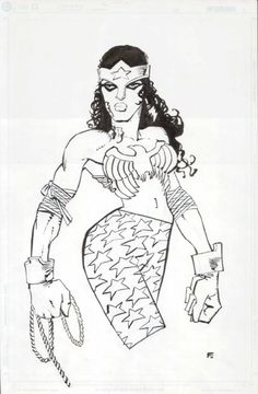 Frank Miller Wonder Woman Designs... Comic Art