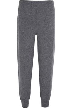 GABRIELLE'S AMAZING FANTASY CLOSET   Jill Sander 100% Cashmere Gray Workout Pants I've styled them with a thigh-length Gray Cardigan and an Ivory Cashmere Sweater with Silver Stars.  You can see the Whole Outfit and my Remarks on this board.  -  Gabrielle