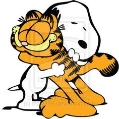 Two of my favorite childhood characters... Snoopy Garfield | Garfield and Snoopy by ~thaty369 on deviantART