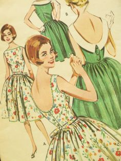 Lovely 50's Vintage Dress Pattern Butterick 9752 by EmSewCrazy, $18.00
