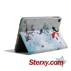 Swimming Koi Ipad Cover  FOR  Ipad Mini 1,2,3,4  and Ipad Air/Air 2, shows the beauty of Chinese painting. Shop now at http://www.sterxy.com/category/Laptop-Tablet-Cases/97.html