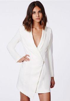 Missguided Asymmetric Zipped Blazer Dress.
