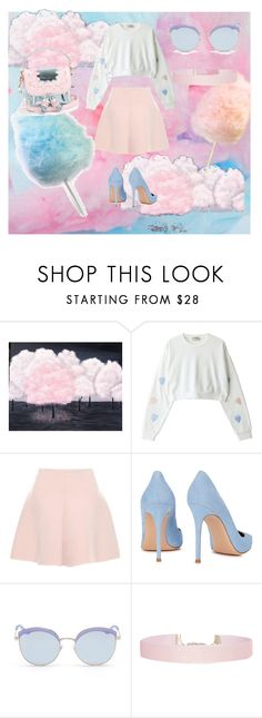 """""""Cotton candy dreams"""" by blue-r ❤ liked on Polyvore featuring RED Valentino, Gianvito Rossi, Stephane + Christian, Humble Chic and Sophia Webster"""