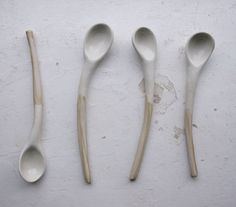 custom order for Jaime-ceramic spoons via Etsy