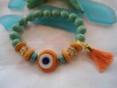 SALE GYPSY PRINCESS Bohemian Style Bracelet Ethnic by Nezihe1, $19.99
