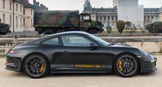 Porsche 911 R Spotted Wearing Dark Colorway In Paris
