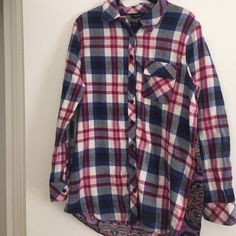 Tolani Flannel Tolani flannel with boho back Tolani Tops Button Down Shirts