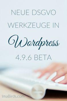 DSGVO Werkzeuge in WordPress Beta