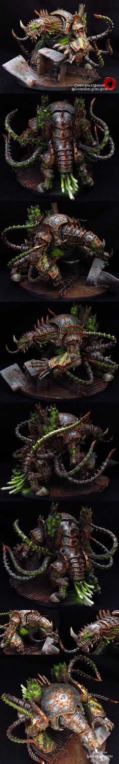 Chaos Space Marines Maulerfiend by SavageDPainting