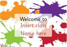 Teacher's Pet - Editable Classroom Welcome posters - FREE Classroom Display Resource - EYFS, KS1, KS2, editables, welcome, posters, classroom, door signs
