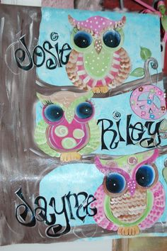 hand painted owl canvas by AStrokeofWhimzy on Etsy, $40.00