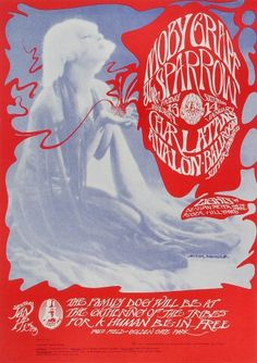 Moby Grape Poster - Rock posters, concert posters, and vintage posters from the Fillmore, Fillmore East, Winterland, Grande Ballroom, Armadillo World Headquarters, The Ark, The Bank, Kaleidoscope Club, Shrine Auditorium and Avalon Ballroom.