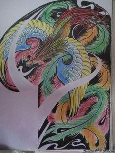 TATTOO FÊNIX: Desenho fênix colorida para o braço