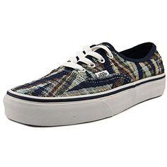 11e9002a53a7 Vans Unisex Authentic (Woven Chevron) Dress Blues True White Sneaker Men s 6