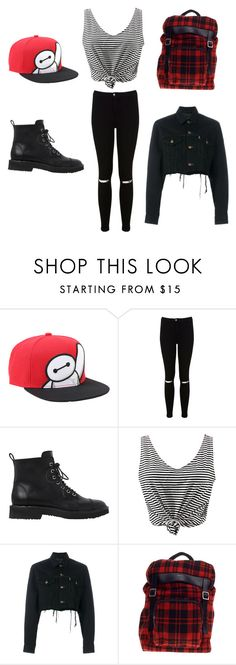 """""""unique"""" by jenniferguerra93 ❤ liked on Polyvore featuring Disney, Miss Selfridge, Giuseppe Zanotti, WithChic, Blackyoto, Yves Saint Laurent, GetTheLook and hats"""