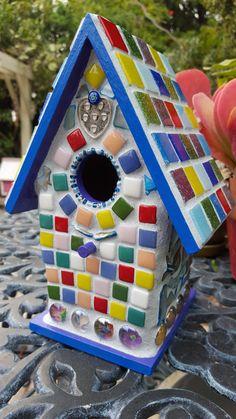 Mosaic Bird House by CLOUD9MOSAICS on Etsy