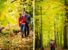 Forest Preserves! – Fall Forest Engagement - Yep, just a few minutes outside of Chicago are beautiful forest preserves Ann & Kam Photography & Cinema www.annkam.com