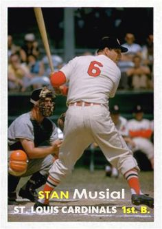St, Louis Cardinals Stan Musial in action during spring training, FL Cardinals Baseball, St Louis Cardinals, Baseball Photos, Baseball Cards, Mlb Teams, Sports Teams, St Louis Baseball, Mlb Stadiums, Player Card