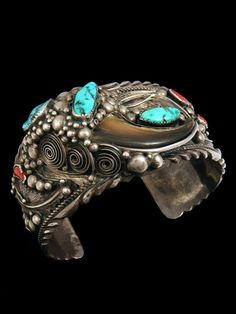 Old Pawn Native American Jewelry | Old Pawn Indian Bear Claw Bracelet
