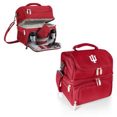 The Indiana Hoosiers Pranzo lunch box features insulated and isolated sections enabling you to separate your cold and hot drinks and food items. Durable Polyester construction, the Hoosiers Lunch Box