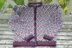 Ravelry: Summer Berry Fair Isle Cardigan pattern by my dear friend and master knitter, Nancy Vandivert. http://www.nancysknits.com/Home/