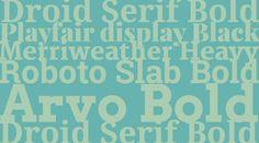 Combinaciones tipográficas de fuentes serif