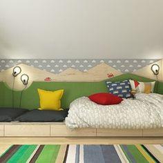 Dom pod Krakowem - przestrzeń zupełna, Projekt wnętrza mieszkalnego WERDHOME - homebook Cool Kids Bedrooms, Attic Rooms, First Home, Bunk Beds, Baby Room, Kids Room, Toddler Bed, Design Inspiration, House Design
